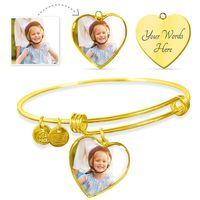 Personalized Heart Shaped Charm on Charm Bracelet $49.95