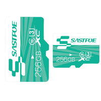 SASTFOE Green Edition 256GB U3 Class 10 TF Micro Memory Card for Digital Camera MP3 TV Box Smartphone