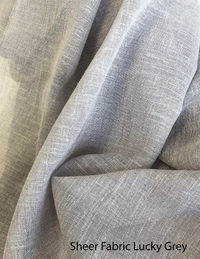 """Relaxed Roman Shade """"Lucky Grey"""" available in different colours, sheer roman shades with chain mechanism, sheer faux linen roman shades $230.00"""