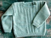 A gorgeous baby sweater knitting pattern in Fingering weight yarn, and the pattern is FREE through The Purl Bee!.
