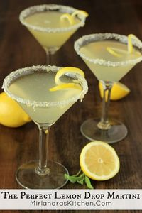 This lemon drop martini is my version of heaven. Simple to prepare, and lemony perfection to drink. Try my lemon sugar recipe on the rim - it is excellent! You
