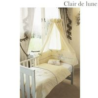 Clair de Lune Maddy and Henri - 5 Piece Bedding Bale Product Information To fit cot/cotbed. Beautifully presented in a gift pack this bedding bale consists of quilt bumper fleece blanket 1 flannelette cotton flat sheet and 1 cotton jersey fitted sheet. ht...