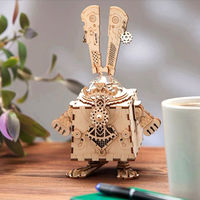 3D Wooden Puzzle,Creative Kit,DIY Robot Toy,Rabbit Assembly Music Box $57.80