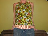 Madison Top. Sweet Halter Style Shirt Tunic. Womens on Etsy, $35.00