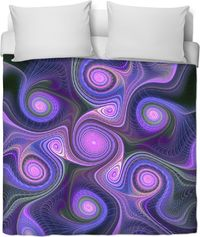 ROB Purple Psych Duvet Cover $120.00