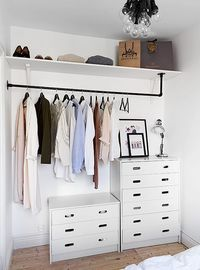 Does your bedroom lack a closet? Do you have a lot of clothes to store? Here are 9 unique, simple ways to store your clothes without a closet.