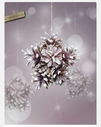 DIY snowflake with pinecones ~ Just glue them together �™��™�