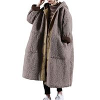Black lamb down hooded coat, winter coat, Wool Coat, Women Coat, Plus Size Clothing