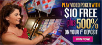 Start playing video poker online at BingoVega.com. Register now to get FREE deposit bonuses!