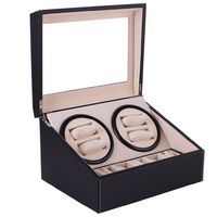 Automatic Mechanical Watch Winder Black Faux Leather Gift Box $157.99