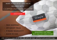 Copper Infused Pillow | Best Cooling Pillow Visit: https://laylasleep.com/product/layla-pillow/