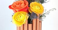 Oleander and Palm: DIY Faux Copper Pipe Vase