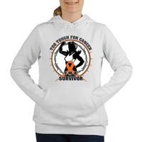 Leukemia Tough Women's Hooded Sweatshirt
