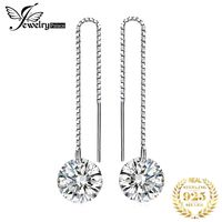 JewelryPalace 925 Sterling Silver Cubic Zirconia CZ Long Drop Earrings For Women Korean Earrings 2019 Earings Fashion Jewelry $32.00