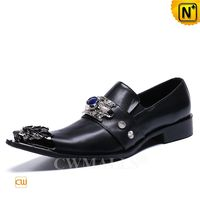 Haute Couture Mens Black Leather Dance Shoes CW719033 | CWMALLS.COM