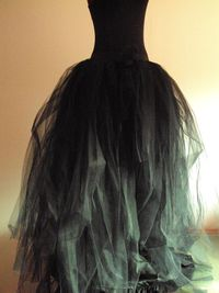 Hey, I found this really awesome Etsy listing at https://www.etsy.com/listing/107837620/black-tulle-skirt-halloween-goth