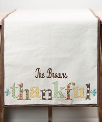 Look at this 'Thankful' Personalized Table Runner on #zulily today!