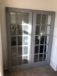 Large Mirror Wall made from French Doors Grey £699.00