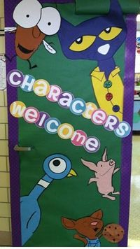 "Classroom Door Ideas ""Characters Welcome"" Primary Possibilities"
