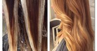 HOW TO: Balayage hair paint Honey ginger Dimensional Blonde