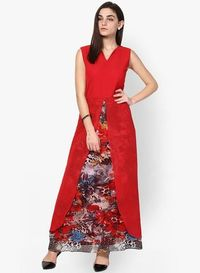 Copy of Athena Red Colored & Printed Maxi Dresses new 1 �'�1425.58