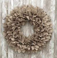 Sandstone / Oatmeal Felt Wreath - 3 Sizes! Indoor or Outdoor (covered) Use. $34.99