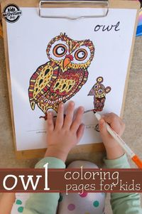 Coloring pages are a big hit at my house, but it isn't always easy to find one that will appeal to a variety of ages.