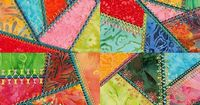 Simply Crazy Quilt ( Simply Crazy Quilt Series 1 Part 2 Patchwork Machine Embroidery Designs Consists Of 4 Embellished Applique Squares. )