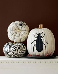 10 fun, fresh and elegant no carve pumpkin ideas to dress up your fall decor from The Sweetest Occasion