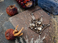 "Pendant with natural moon stone - The crown of queen of ""Deep dream"". Magic and fantasy jewelry by OfelWay. $44.00"
