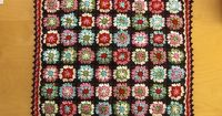 Traditional Granny Blanket made by Daatje, free pattern by Lion Brand