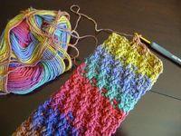 Crochet Woven Scarf Pattern, free