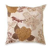 """Tula Gold 20"""" Square Toss Pillow - Bed Bath & Beyond want 2 of these!"""