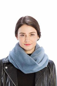 Solid Color Faux Mink Fur Infinity Scarf $14.51