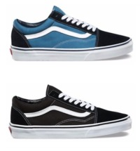 New Vans Old Skool Classic Canvas/Suede Black/Blue Skate Shoes/Sneakers/Trainers $45.06