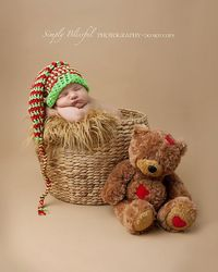 Newborn Photo Prop Christmas Elf, Crochet Baby Holiday Elf Hat, Crochet Striped Baby Elf Hat, Twin Christmas Baby Hat, Christmas Photo Prop sur Etsy, $26.76 CAD