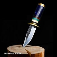Handmade Knives Outdoor Survival Camping Hunting Knife Leather Scabbard $69.00