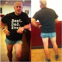 A Utah dad fed up with his daughter's short shorts decided to do something that would make her realize they might not be as cute as she thinks.