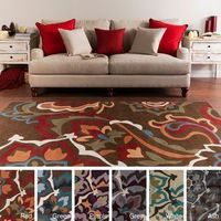 Hand-tufted Floral Contemporary Area Rug (8' x 11')   Overstock.com Shopping - Great Deals on 7x9 - 10x14 Rugs