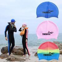 Practical Unsex Adult Swimming Cap Shower Cap Silicone Waterproof Suitable For Long Hair Diving Snorkeling Equipment Hot $7.99