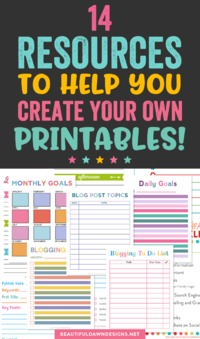 I often receive questions about how I create my printables. I prefer to use Photoshop when creating printables. Photoshop allows me to produce high-quality printables pretty quickly. That being said, there are a lot of great options available online for c...