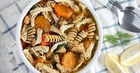 Flu Fighter Chicken Noodle Soup is a hearty and healthy recipe to help you recover from the flu. A satisfying meal for those cold winter days.