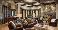 Built in wine closet on left wall...love the whole look!!