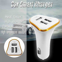 4.1A Three Interfaces Car Charger Smart Shunt Fast For Mobile Phone Tablet