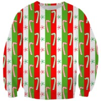 Christmas Candy Cane Stripes Sweatshirt $59.95