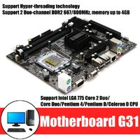 Motherboard For Intel G31 Intel LGA 775 DDR2 Motherboard Mainboard Support 2 Duo-Channel 4GB Memory
