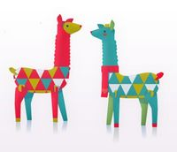 adore these printable paper llamas from happythought etsy shoppe ~ I want to tuck them all over my home, peeking out from between knick knacks on bookshelves, standing guard over the entryway from the base of the hall table lamp, peering out from over the...
