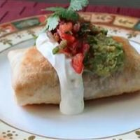 Chicken and Mushroom Chimichangas | Moist chicken and earthy mushrooms combine with fresh green chiles and pepperjack cheese encased in a crispy, pant-fried tortilla.