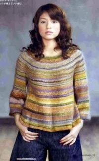 free knitting sweater pattern - would be great for handspun