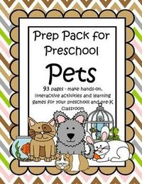 This is a comprehensive set of printables with a PETS theme - make hands-on, interactive activities and learning games for your preschool and pre-K classroom. Engaging graphics, most activities are developmentally appropriate for ages 3 - 6, and SPED. 93 ...
